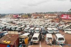 Bus station - Kampala, Uganda - i think they just recently began a regular car taxi service - ? i 'heard'. Zombie Tsunami, Paises Da Africa, Isaiah 6 8, African Market, Bus Station, Fashion 2015, Africa Travel, Far Away, Taxi