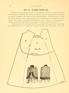 Handbook on dress and cloak cutting cape