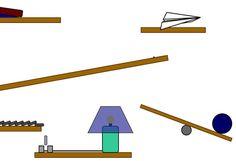 Examples of SVG: Animated Rube Goldberg machine