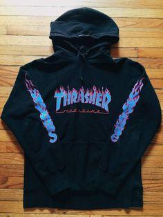 0033412979b8b8 Supreme Thrasher Flame Hoodie Size US L   EU 52-54   3 - 1