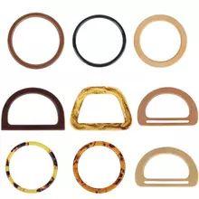 Online Shop 1 Pcs M / D / Square Shape Wooden Bag Handle Replacement for DIY Shoulder Bag Making Handbag Tool Diy Handbag, Diy Purse, Diy Bags Purses, Purses And Handbags, Knitted Bags, Crochet Bags, Wooden Purse, Purse Handles, Macrame Bag