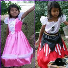 Fab 2-in-1 reversible outfit - all you have to do is choose whether to be a princess or a pirate...