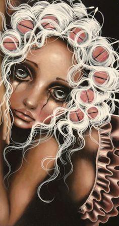 By Artist Angelina Wrona ? Digital Art Fantasy, Fantasy Art, Different Kinds Of Art, Goth Art, Surreal Art, Big Eyes, Traditional Art, Art Pictures, Photos