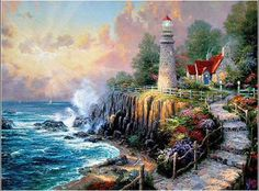 Thomas Kinkade - Thomas Kinkade The Light of Peace Painting