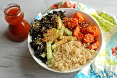 Carrot and Kale Quinoa Bowl with a Korean Vinaigrette - The Food in My Beard