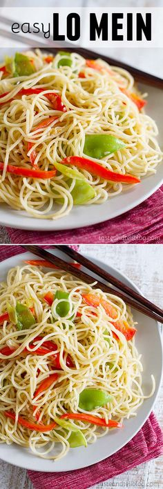 A great side dish for a Chinese meal, this Easy Lo Mein recipe is simple and fast.