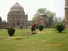Lodhi gardens, new dehli india. Saw a cow pulling a lawnmower on this grass in 1992.