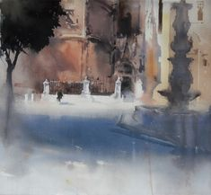 Camilo Huéscar - Αναζήτηση Google Illustration Art, Illustrations, Water Colors, Watercolor Paintings, Cool Art, Art Photography, Fine Art, Abstract, City