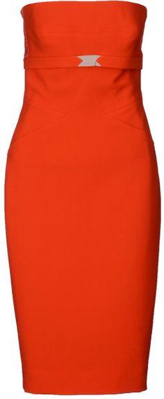 victoria beckham Kneelength Dress - Lyst