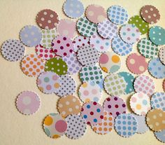 Card Scalloped Edge Circle Shapes, Dots & Spots Printed Card, 100 pack by Steph Short Supplies