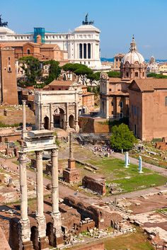 The Forum, Rome. I love stuff like this. And to walk out at the bottom and be greeted by the colosseum was awesome.