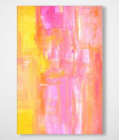 Stretched Canvas Art 120cm x 80cm PINK ABSTRACT 3 Painting Print Ready to Hang