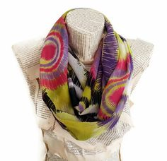 Neon infinity Scarf Women Scarves  Girly Chiffon by HeraScarf, $12.90