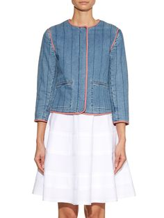Emeric quilted-denim jacket | Vanessa Bruno Athé | MATCHESFASHION.COM US