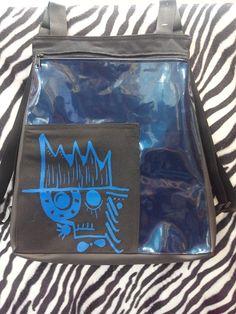 #mochila #bags #blue #skull #diseñospropios #diseñosunicos