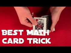 Learn great easy impromptu self working card trick with free tutorial! Mathematical Card Tricks, Easy Card Tricks, Sleight Of Hand, Magic Cards, Craft Ideas, Make It Yourself, Learning, Check, Youtube