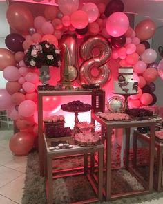 Happy Birthday 18th, 18th Birthday Party, Birthday Celebration, 21st Birthday Decorations, Sweet 16 Decorations, Wedding Decorations, Barbie Theme, Birthday Goals, 21 Party
