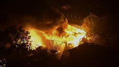 Scene from an explosion of a fertilizer plant in West, Texas on April 17, 2013. --- Really no humm Pray for these people.