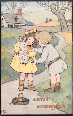 1914 vintage Oilette postcard- artist unknown