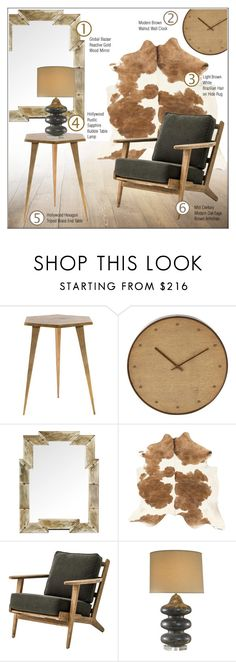 """""""Rustic Decor"""" by kathykuohome ❤ liked on Polyvore featuring interior, interiors, interior design, home, home decor, interior decorating, WALL, rustic, livingroom and Home"""