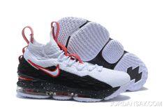 9a1e547dc02c Nike LeBron 15 White Black-University Red Men s Basketball Shoes Big Deals