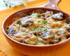 Whether you're looking for a way to dress up your breakfast or creative ideas for a brunch gathering, this is an egg-cellent way to start your morning. You can feed a small army with this baked omelet that's full of bacon, tomatoes, mushrooms and cheese. Breakfast Dishes, Breakfast Time, Breakfast Recipes, Brunch Casserole, Casserole Recipes, Stuffed Mushrooms, Stuffed Peppers, Recipe Of The Day, Food Inspiration