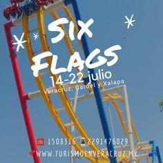 Vamos este #verano a #SixFlags saliendo de Veracruz, Cardel y Xalapa este 14 y 22 de julio costo por persona $900  📞OFICINA 1508316 📱 WhatsApp 2291476029 📨 turismoenveracruz@gmail.com 🌐 http://www.veracruztour.com/promociones.htm  #excursion #tour #pasemagico #excursiones
