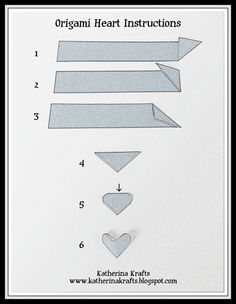 Instructions on How to Fold Origami Hearts