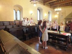 Peter & Tracy 4th July 2013: Civil wedding in Cortona's Town Hall, translation & coordination services by www.tuscantoursandweddings.it