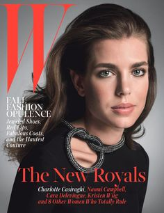 Monaco's Charlotte Casiraghi (Princess Grace (Kelly)'s granddaughter), in Gucci, on the cover of W Magazine, October 2014