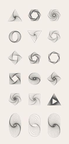 New Tattoo Geometric Mandala Sacred Geometry Shape Ideas Geometric Symbols, Geometric Designs, Geometric Mandala, Geometric Shapes Art, Arte Linear, Geometry Shape, Fractal Geometry, Sacred Geometry Triangle, Sacred Geometry Tattoo