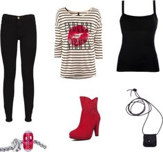 """random outfit - punk rock look"" by whit-walker on Polyvore"