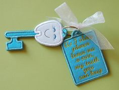 In The Hoop :: Holiday :: Tooth Fairy Magic Key - Embroidery Garden In the Hoop Machine Embroidery Designs