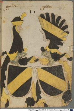 Ortenburger Wappenbuch Bayern, 1466 - 1473 Cod.icon. 308 u  Folio 34r