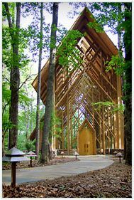 Anthony Chapel at Garvan Woodland Gardens, Hot Springs, Arkansas