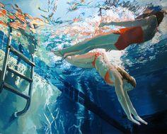 Samantha French - Dans la continuité de David Hockney (a Bigger Splash) ?