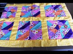 ▶ How to #sew #quilt squares borders- Jelly Roll quilt - YouTube