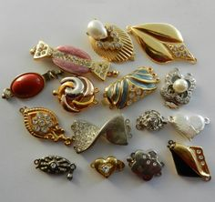 Vintage Clasps for jewelry  15  clasps 1960s/1970s by RAKcreations