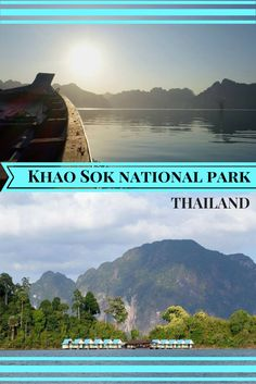 Khao Sok's most famous drawcard is the magnificent Cheow Lan lake. After hiking around the national park, this is a great place to recharge and take in the serenity. #khaosok #lake #relax #Thailand