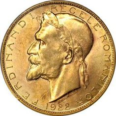 100 lei 1922 Coin Art, Gold Money, Gold And Silver Coins, World Coins, Goods And Services, Coin Collecting, Aur, Bucharest, Sculpture