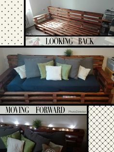 Pallet couch, pallet idea, living room #pallet #couch #idea #living #room