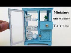 (58) Kitchen Cabinets |  DIY Miniature dollhouse furniture -  Tutorial - YouTube