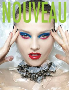Nouveau Magazine Eyeshadow Lipstick Covers With Great Makeup