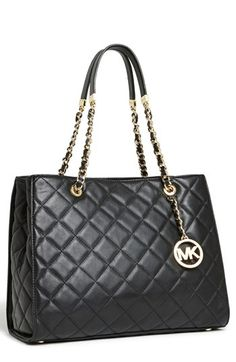 3c0dab47ebbf Michael Kors 'Susannah' Quilted Leather Tote available at Michael Kors  Store! I got