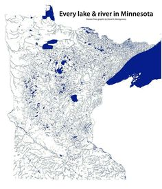 Every body of water in Minnesota