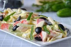 Крабовый салат с плавленым сыром. Простой и очень вкусный