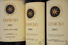 Range of Sassicaia wines