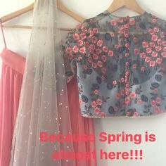 """365 Likes, 20 Comments - The Peach Project By Ayesha (@thepeachproject_by_ayesha) on Instagram: """"The Botanical Lehenga set is giving us early spring vibes! #peach #spring #botanicalgarden…"""""""