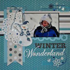 Winter Wonderland~Echo Park - Scrapbook layout