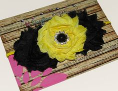 Black and yellow inspired Bumble Bee Shabby by lilDazzlingBOWtique